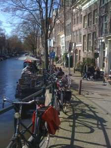 Amsterdam, bicycles and floating restaurants