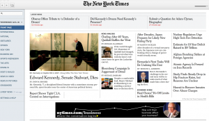 The New York Times Reader, Front Page