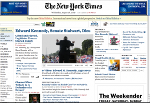 Front Page The New York Times Web Edition