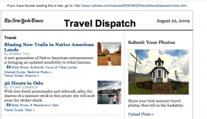 Travel Section Email